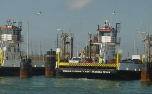 The ferry at Aransas Pass Texas