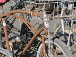 rusty old bikes