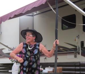 "Joan ""pole"" dances"