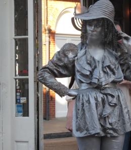 Silver statue