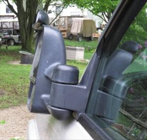 Truck mirror was damaged too