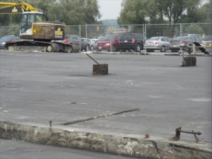 Paved over site