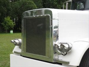 white truck grill
