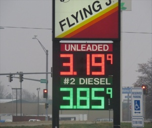 The price of fuel at the Flying J- not good