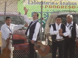 Mariachi band taking a break.