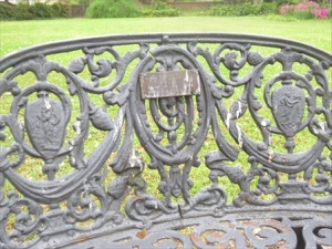 Wrought iron furniture detail.