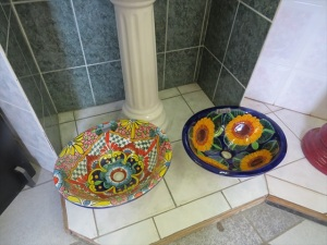 Maybe we'll put in a talavera sink. No talavera toilet though. That's just too much