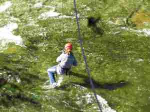 A wet landing.