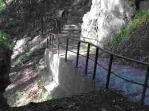 stairway down to the water looks steep.
